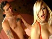 Big jugged blonde tranny lover Romina getting anally nailed doggy style